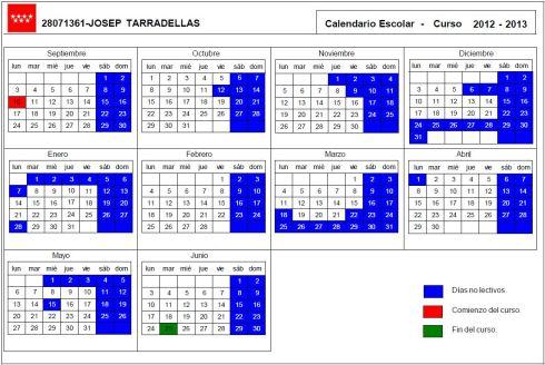 Calendario definitivo 2012-2013