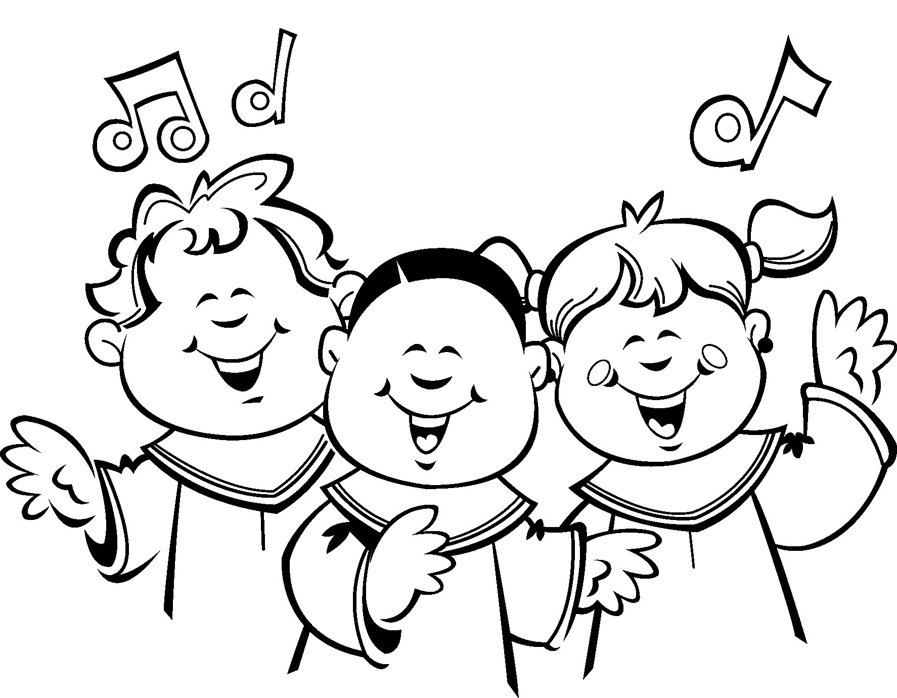 choral singing coloring pages - photo#3